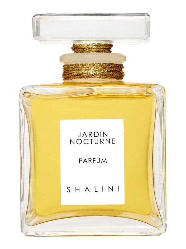 Jardin Nocturne Cubique Glass Bottle with Glass Stopper sealed with Gold Thread