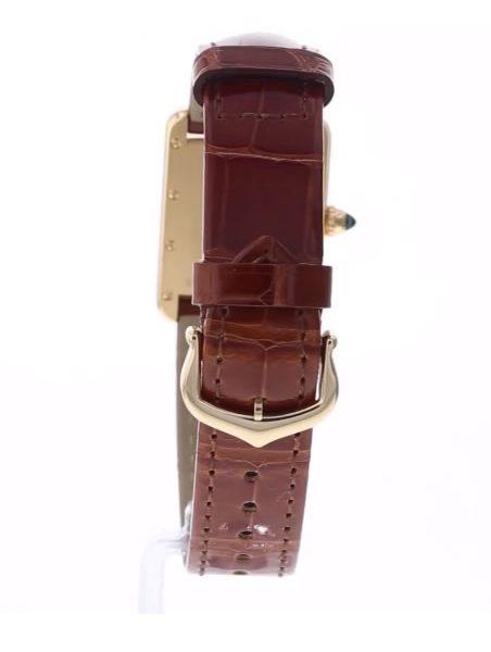 Tank Louis Cartier 34mm 18-Karat Gold And Alligator Watch - strap