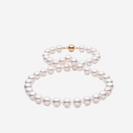18-Top Range Hanadama Akoya Pearl Necklace 9-0-9-5mm