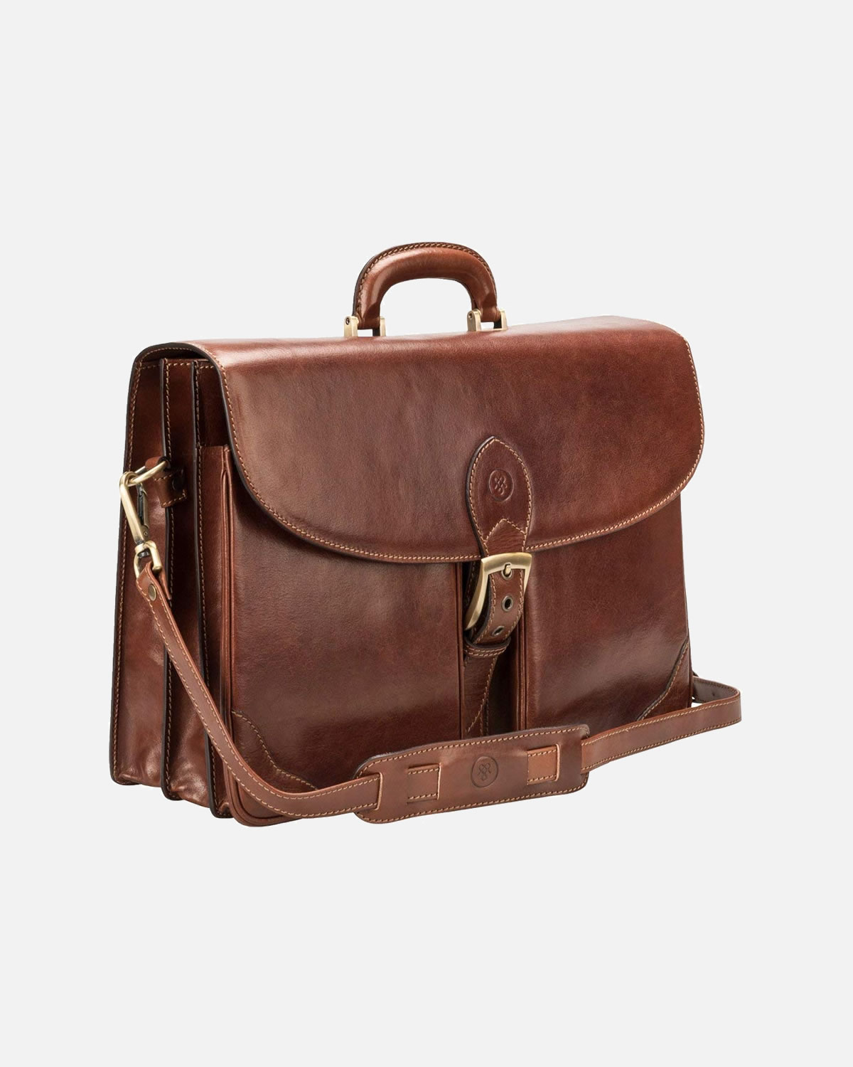 a047caae2d Maxwell Scott® Personalised Luxury Large Brown Mens Business Case ...